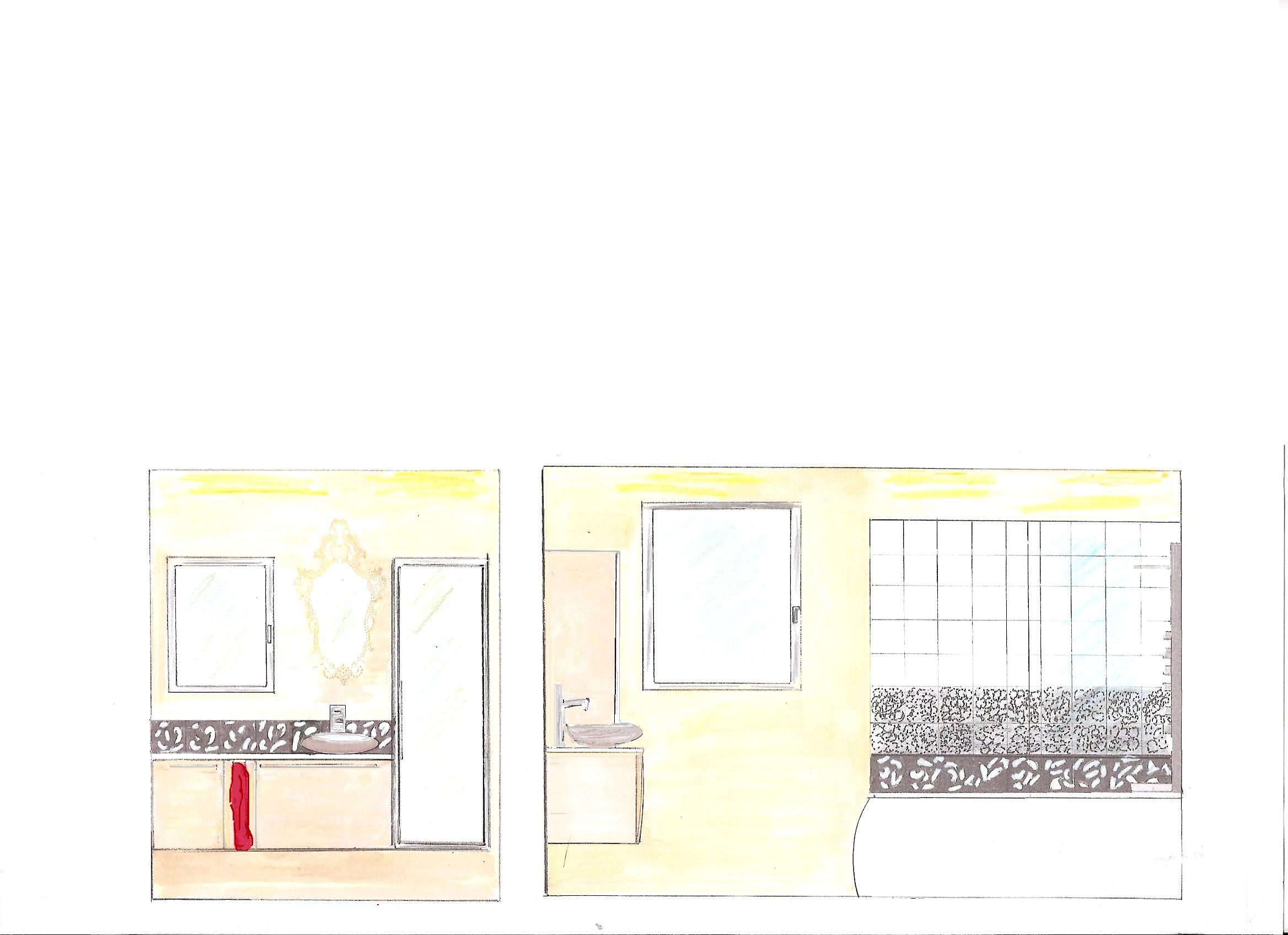 fdeco agencement esprit baroque pour une salle de bains. Black Bedroom Furniture Sets. Home Design Ideas