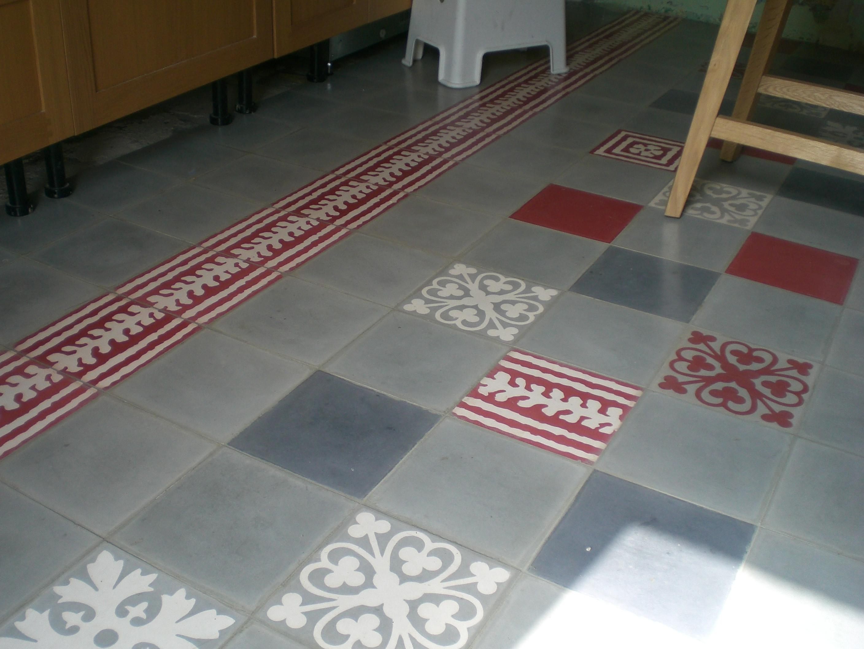Fdeco agencement comment cr er un tapis dans sa cuisine Tapis cuisine carreaux de ciment