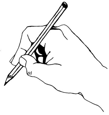 main dessinant avec un crayon