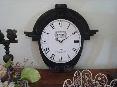 horloge noire Richelieu de decoacoeur.com